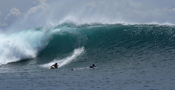 Bruno Hansen surfing in Bali