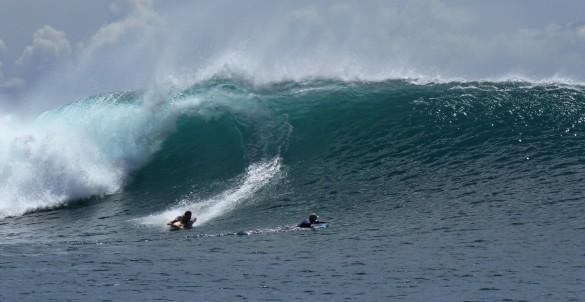 Bruno Hansen surfing in Bali