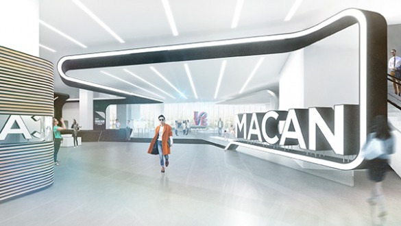 Preliminary Rendering of Museum MACAN's entrance | Photo by MET Studio Design Ltd.