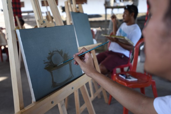Painting | Photo by British Council Feri Latief
