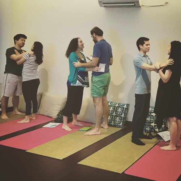 A birthing workshop being conducted at Nujuh Bulan Studio