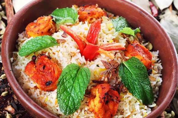 Prawn Briyani | Photo Courtesy of The Royal Jakarta