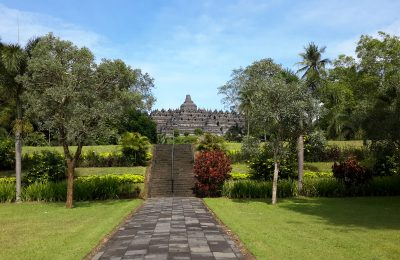 Side view of Borobudur