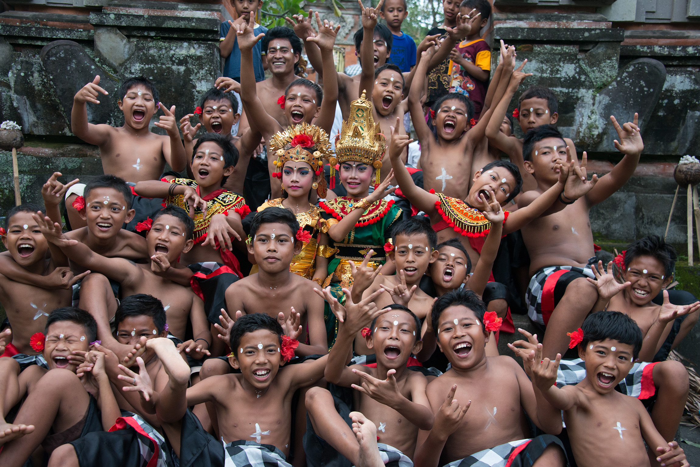 BALI KIDS These kids were very excited as they were about to perform the Kecak dance for the first time in their lives, in a small village near Ubud.