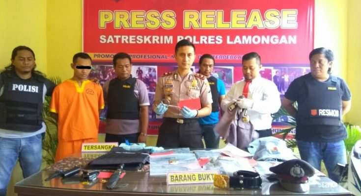 Photo of Sutiono by Lamongan Police