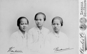 Kartini (left) and her sisters