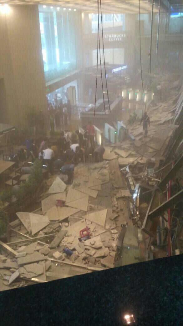 Floor Collapse At Indonesia Stock Exchange Building