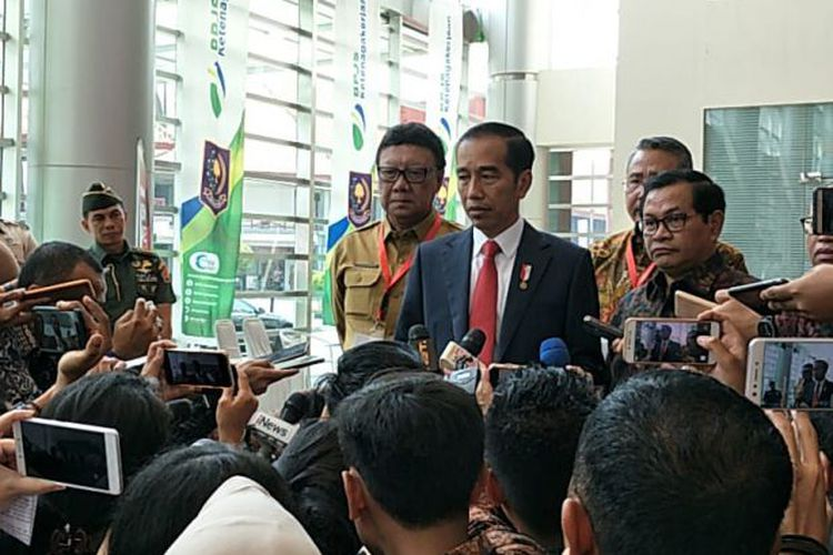 President Jokowi on his speech on the terrorism law