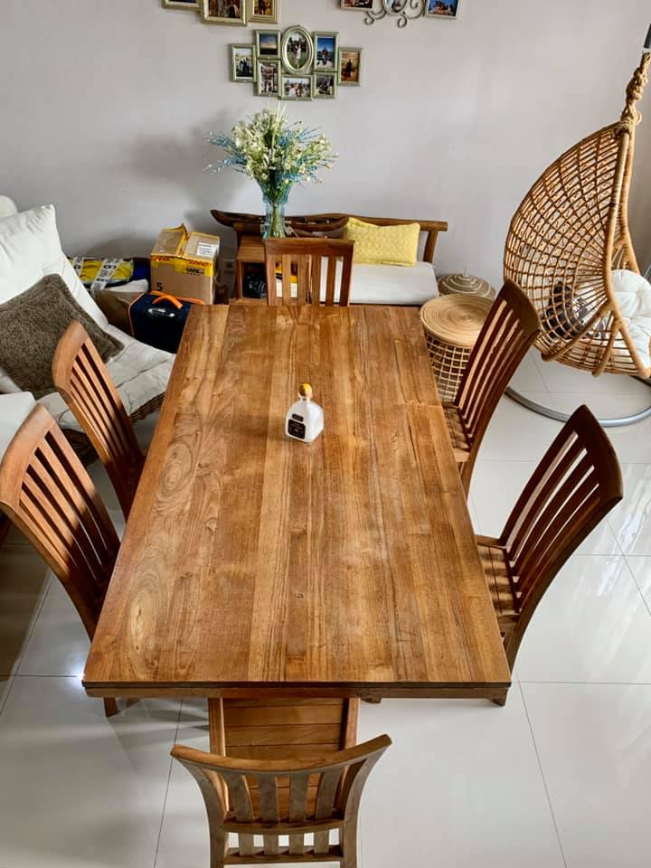 For Sale Teak Dining Table And Chairs Indonesia Expat