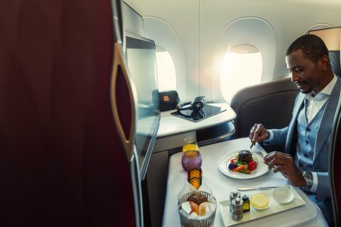 Dining Qatar Airways