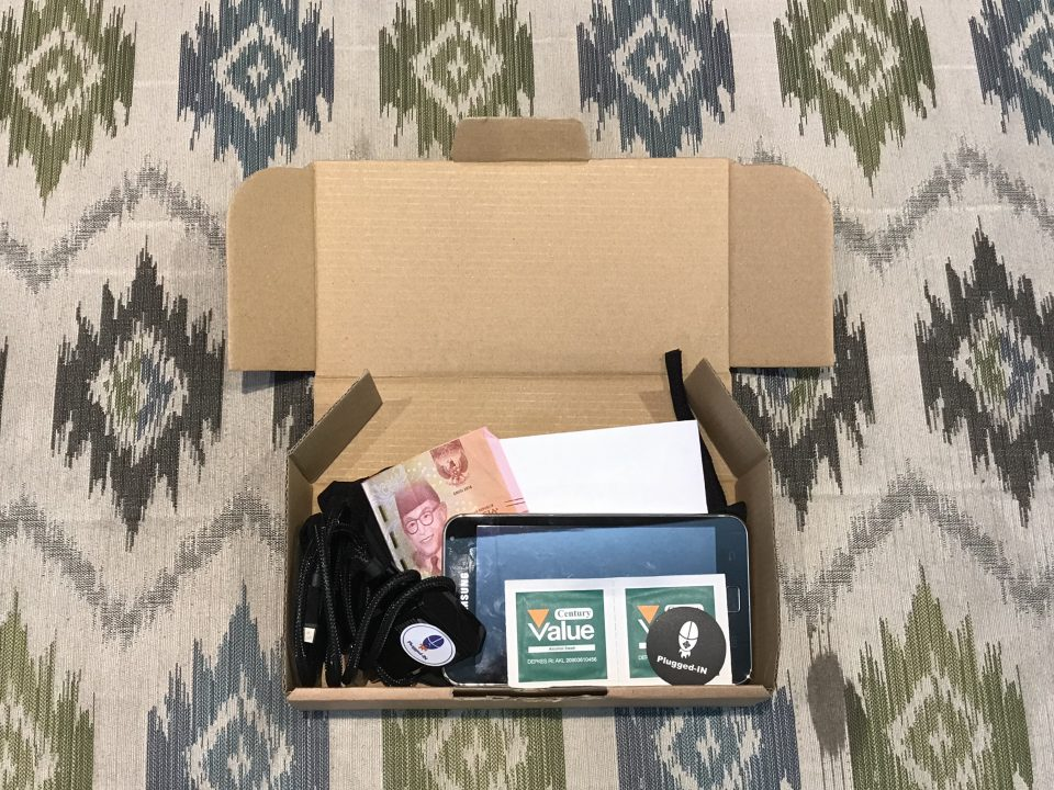 Inside Plugged-In Package Box