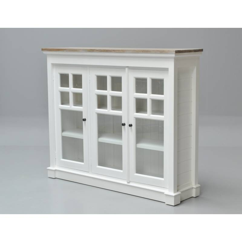 White Display Cupboard Glass Front